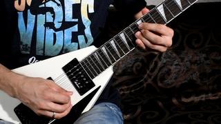 NES Target Renegade - Taito Logo, Title Screen Metal Cover (+ Guitar Fail -String breaks 😱)