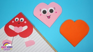 3 Easy Heart Corner Bookmarks | Valentines Day Craft for Kids to Make