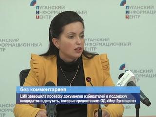 ГТРК ЛНР. ЦИК завершила проверку документов избирателей в поддержку кандидатов в депутаты