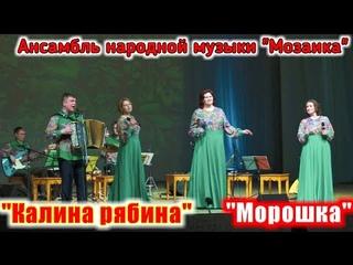 """Песня """"Калина рябина"""" и песня """"Морошка"""" (красивые песни о любви). Ансамбль нар. муз. """"Мозаика""""."""