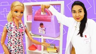 Puppen Video mit Barbie und Doktor Aua. 2 Folgen am Stück. Spielspaß mit Barbie