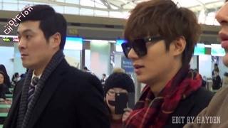 [140110]Lee Min Ho @ Incheon Airport - 怎麼拍都不滿足的男神武漢出差