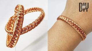 Braided bracelets | thick bangles | Unisex | How to make | Wire jewelry | Handmade | DIY 574