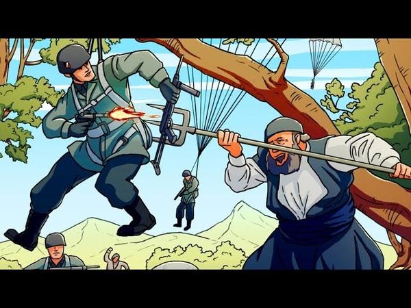 Самая большая авиакатастрофа Германии битва за Крит Анимация