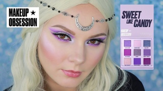 MAKEUP OBSESSION SWEET LIKE CANDY | СВОТЧИ И МАКИЯЖ |MAKEUP TUTORIAL| SWATCHES |MAKEUP REVOLUTION