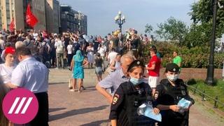 Задержания противников вакцинации в Москве. Итоги акции, организованной Рашкиным