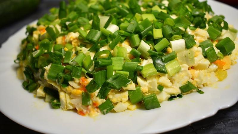 Сытный салат на праздничный стол с Рисом и Шпротами