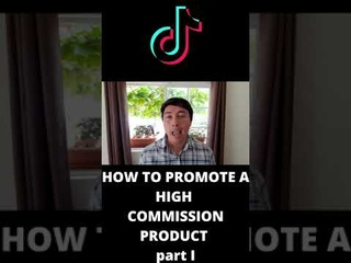 How to promote a high commission product with affiliate marketing part I #shorts