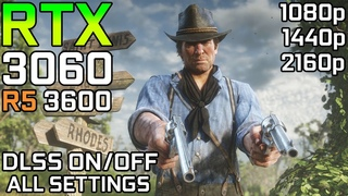 Red Dead Redemption 2 DLSS Test | RTX 3060 | DLSS ON vs OFF Test All Settings |1080p - 1440p - 2160p