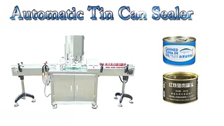 2000BPH Automatic Single-head Tin Can Sealing Equipment   Food Container Capping Machine