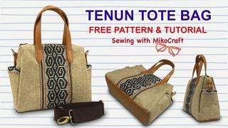 How to Make Tenun Tote Bag - Cara Membuat Totebag Tenun - Free Pattern and Tutorial by Miko Craft