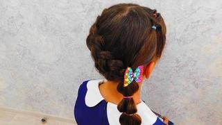 Красивая прическа для девочек на средние и длинные волосы