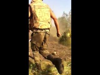 Чечен-дудаєвець смалить по сепарам