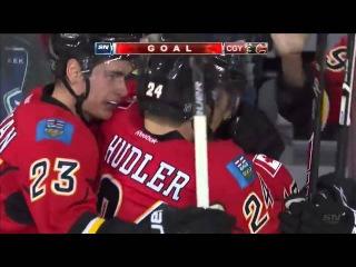 Jiri Hudler Goal on Ryan Miller (03:39/2nd)