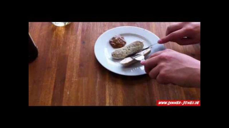 4 Wege eine Weißwurst zu essen Zuzeln und mehr