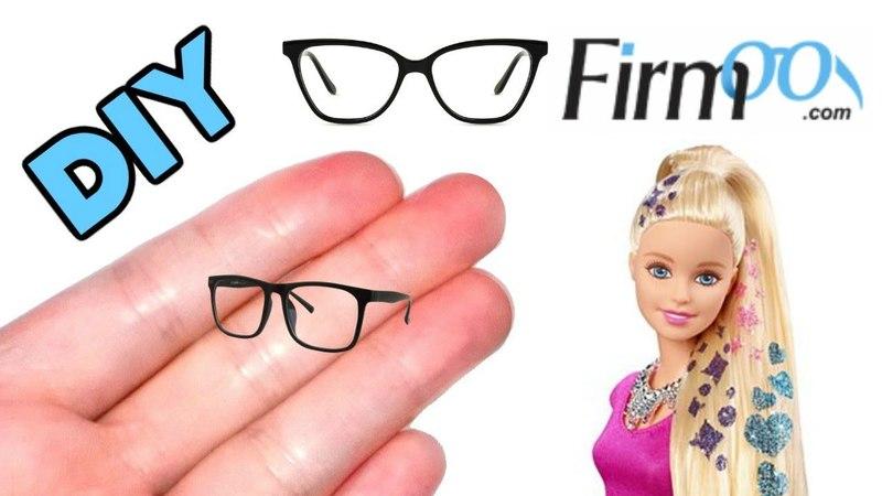 DIY Miniature Dollhouse Barbie Glasses How to Make Miniature Doll Stuff Plus Firmoo Glasses Review