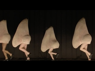 The giant tap-dancing noses scene from Shostakovich's The Nose (The Royal Opera)
