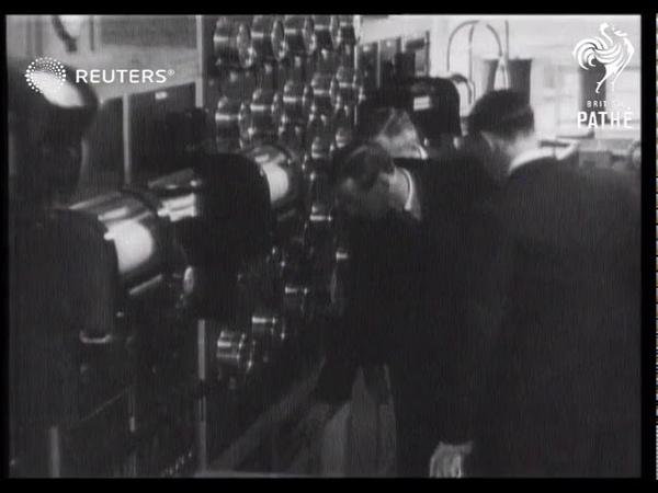 The Duke of Kent opens fire resistant fire testing station at Borehamwood 1935