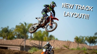 NEW SUPERCROSS LAYOUT!!! Cole Seely rides with Dangerboy Deegan!