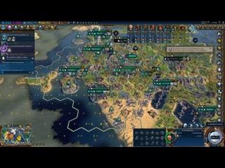 Mako, Agathon, Shist are playing Sid Meier's Civilization VI | Scientific Victory