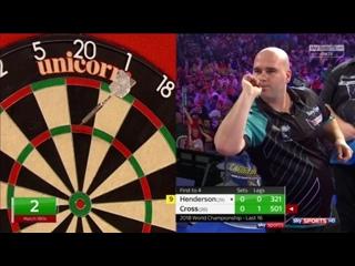 John Henderson vs Rob Cross (PDC World Darts Championship 2018 / Round 3)