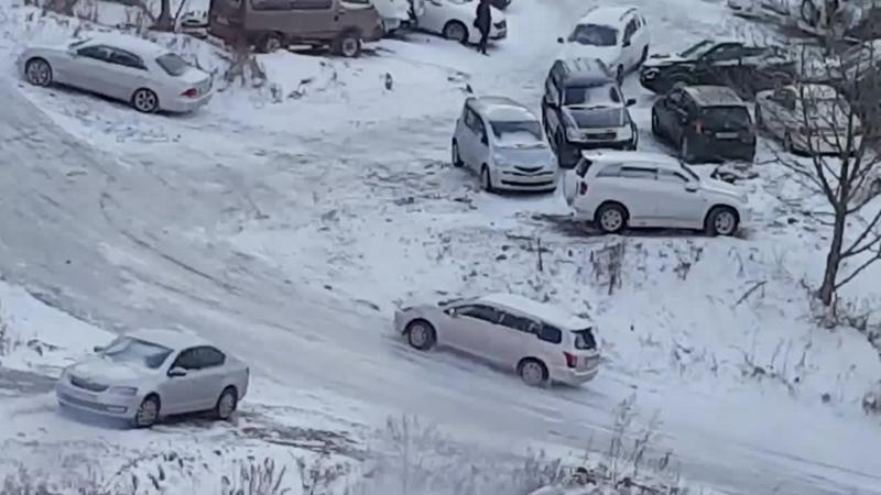Гололёд во Владивостоке