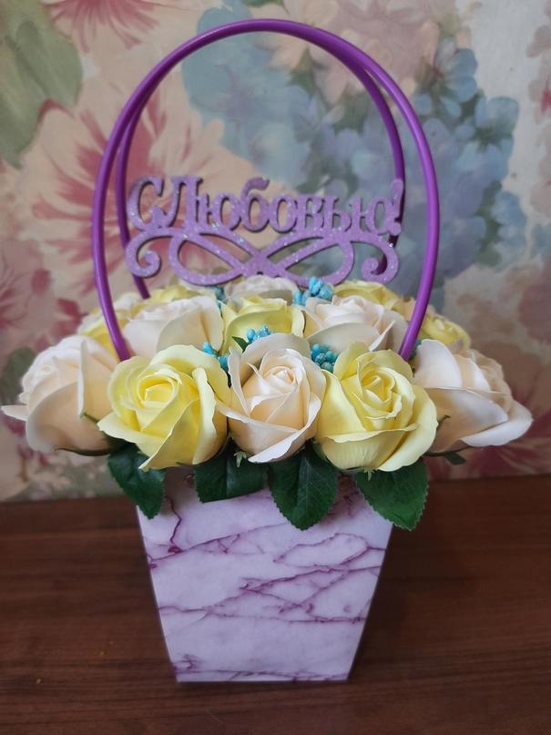 Купить букет из мыльных роз. | Объявления Орска и Новотроицка №28091