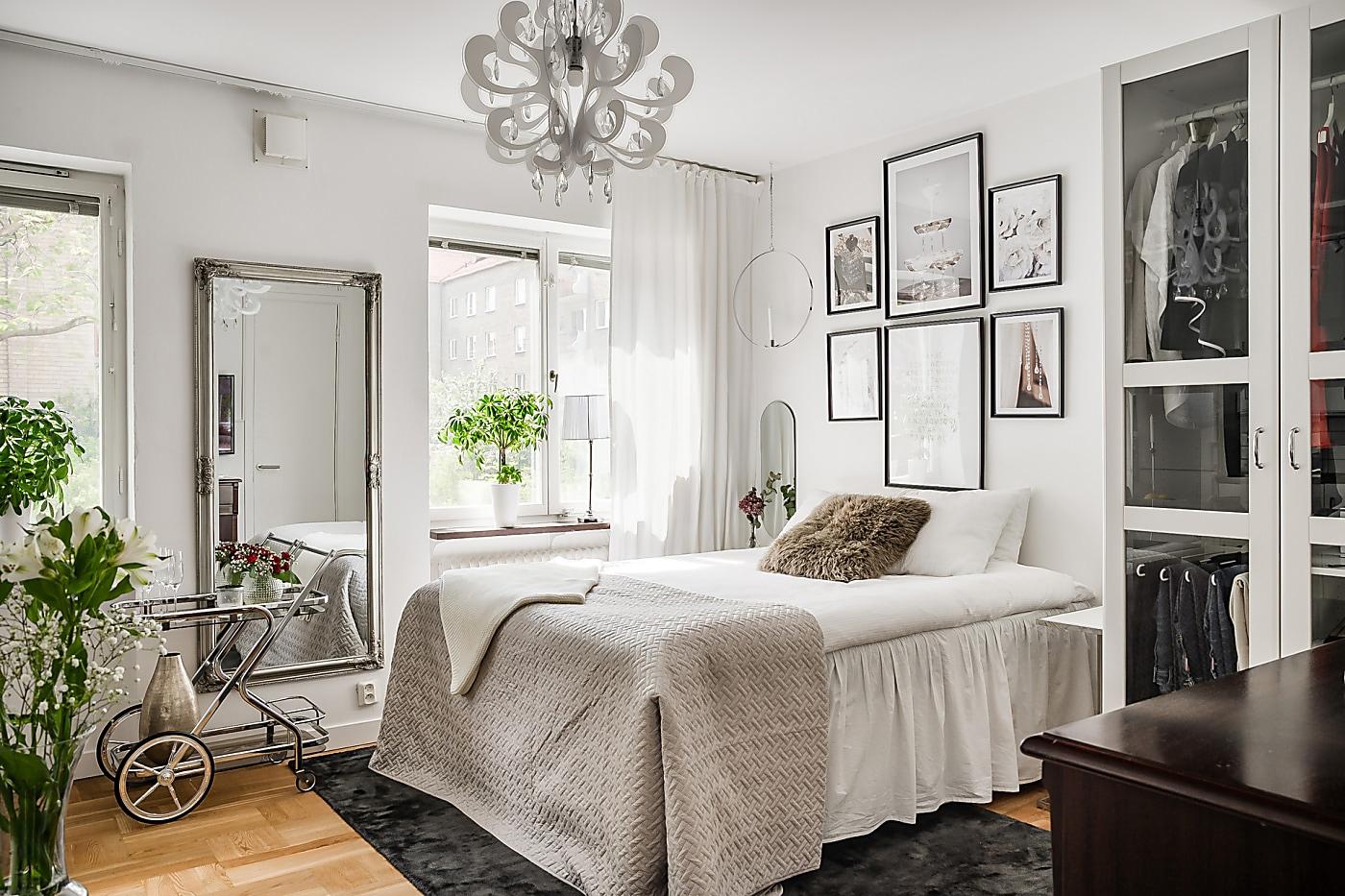 Интерьер скандинавской квартиры-студии 28 кв.