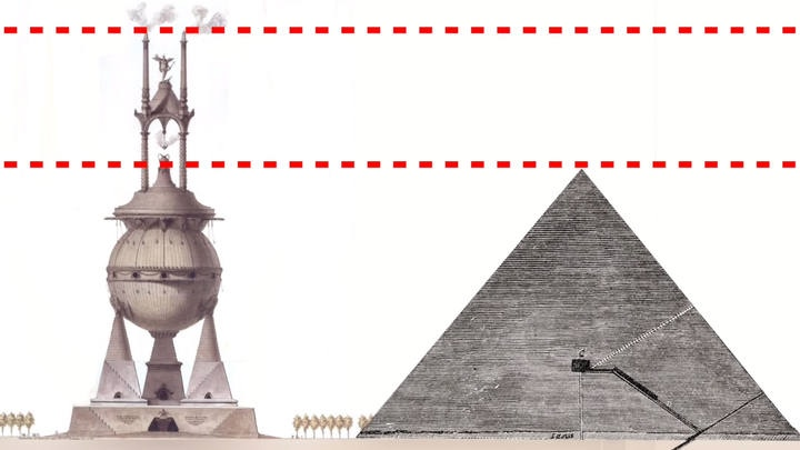 Гробница Ларса Порсены в сравнении с Великой египетской пирамидой