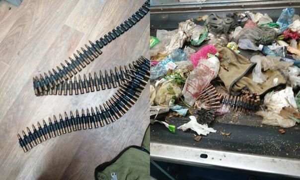 На омском заводе в куче мусора нашли пулемётную ле...