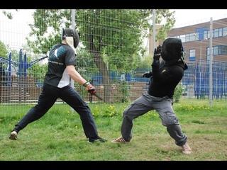 Примеры защит в ножевом бою на дальней дистанции. Knife fighting .