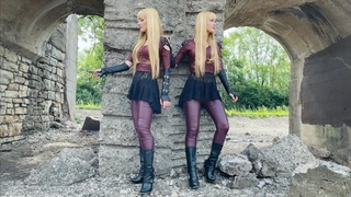 STILETTO (Lita Ford) - Harp Twins, Camille and Kennerly