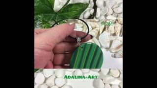 РЭЙ кулон из полимерной глины от Adalina Art
