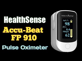 HealthSense Accu-Beat FP 910 Fingertip Pulse Oximeter