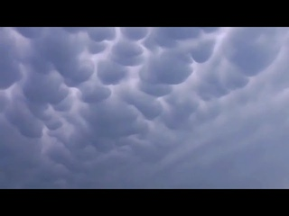 Incredible ! Strange Mammatus Clouds Appears in the Sky of Poland, Warsaw   lenticular clouds