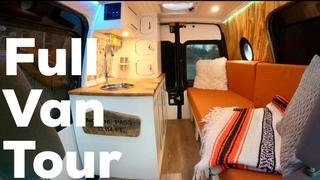 CUSTOM TINY CAMPER VAN (with shower & hidden bench) - FULL TOUR